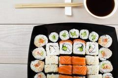 Grande grupo de sushi Foto de Stock