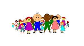 Grande gruppo di bambini Fotografie Stock