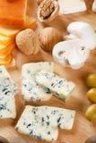 Grande gruppo di formaggi Fotografie Stock
