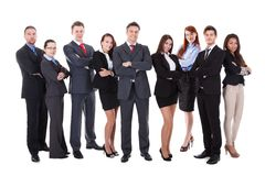 Grande gruppo di gente di affari Fotografia Stock Libera da Diritti