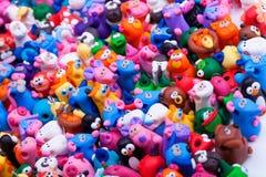 Grande gruppo di giocattoli dell'argilla Immagini Stock Libere da Diritti