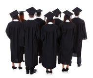 Grande gruppo di laurea degli studenti Fotografie Stock