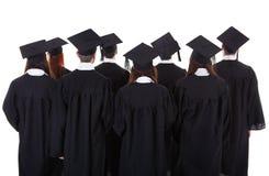 Grande gruppo di laurea degli studenti Immagini Stock