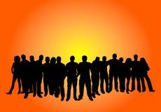 Grande gruppo di persone Immagini Stock Libere da Diritti
