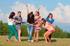 Grande gruppo di ragazze Fotografie Stock