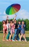 Grande gruppo di ragazze Fotografia Stock