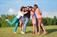 Grande gruppo di ragazze Fotografie Stock Libere da Diritti