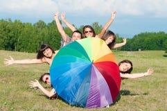 Grande gruppo di ragazze Fotografia Stock Libera da Diritti