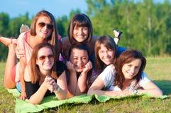 Grande gruppo di ragazze Immagine Stock Libera da Diritti