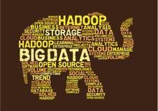 Grande hadoop di dati illustrazione di stock