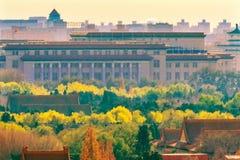 Grande Hall People Forbidden City Beijing Cina immagini stock