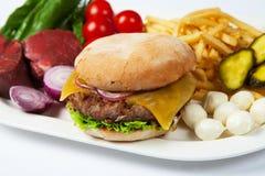 Grande hamburger Immagini Stock