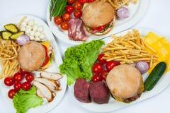 Grande hamburger Immagini Stock Libere da Diritti