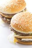 Grande hamburger saporito Immagini Stock Libere da Diritti