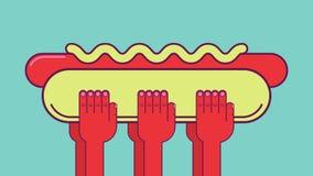 Grande hot dog Fotografie Stock Libere da Diritti