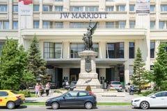 Grande hotel di Jw Marriott Bucarest Fotografie Stock