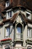 Grande hotel pittoresco Normandia a Deauville in Normand Fotografie Stock Libere da Diritti