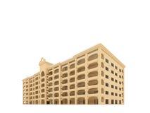 Grande hotel sopra bianco illustrazione di stock