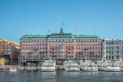 Grande hotel Stoccolma Fotografia Stock Libera da Diritti