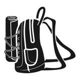 Grande icône de côté de sac à dos, style simple illustration libre de droits