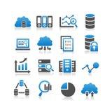 Grande icône de données Photo stock