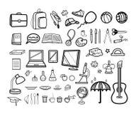 Ensemble moderne d'icône d'école Images libres de droits
