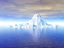 Grande iceberg del ghiaccio Fotografie Stock Libere da Diritti