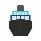 Grande icona della nave royalty illustrazione gratis