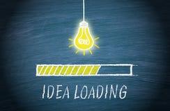 Grande idée chargeant, concept d'ampoule illustration libre de droits