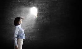Grande idée lumineuse Photos libres de droits
