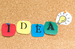 Grande idea! Fotografia Stock Libera da Diritti