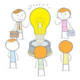 Grande idea di lavoro di squadra Immagini Stock Libere da Diritti
