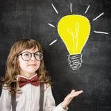 Grande idea luminosa Immagini Stock