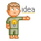 Grande ideia da arte do pixel Imagens de Stock Royalty Free