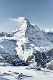 Grande ideia do facefrom do leste Zermatt de Matterhorn foto de stock