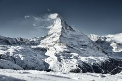 Grande ideia do facefrom do leste Zermatt de Matterhorn fotografia de stock