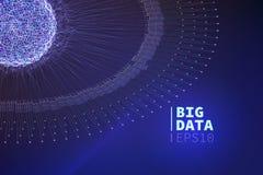 Grande illustration abstraite de données Filtrage de l'information Exploitation de données illustration libre de droits