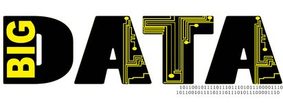 Grande illustration de logo des textes de mot contenant des données illustration de vecteur