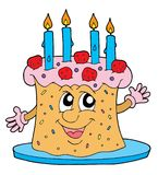 Grande illustration de vecteur de gâteau Image stock