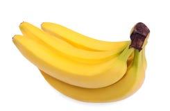 Grande illustration réaliste du groupe de bananes, d'isolement sur un fond blanc Fruits sains Image stock