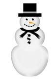 Grande illustrazione del pupazzo di neve Fotografie Stock