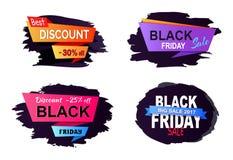 Grande illustrazione 2017 di vettore di Black Friday di vendita Fotografie Stock
