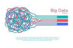 Grande illustrazione di vettore di dati Algorythm di apprendimento automatico per il filtro da informazioni e anaytic nello stile illustrazione di stock