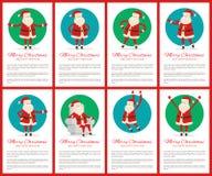 Grande illustrazione di vettore della raccolta di Buon Natale Fotografie Stock