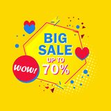 Grande illustrazione fuori di vettore dell'insegna 70% di vendita illustrazione vettoriale