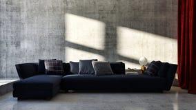grande illustrazione luminosa moderna di lusso 3D del salone degli interni fotografie stock