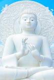 Grande image blanche de Bouddha Images libres de droits