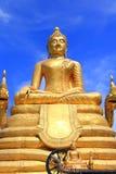 Grande immagine d'ottone del Buddha a Phuket Fotografia Stock Libera da Diritti