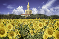 Grande immagine della statua di Buddha Fotografie Stock