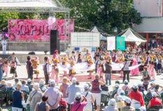 A grande inauguração do festival das rosas em Karlovo, Bulgária fotos de stock